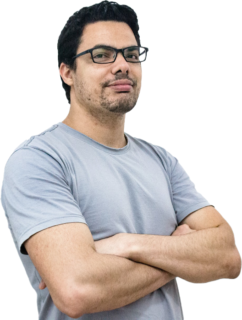 Photo of a Client with arms crossed
